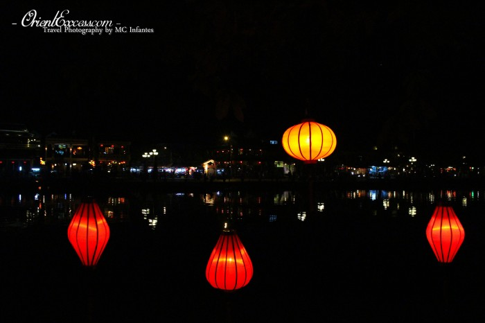 hoi an by night reflection vietnam