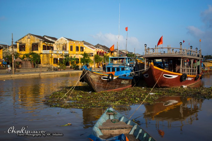 boats old town vietnam hoi an