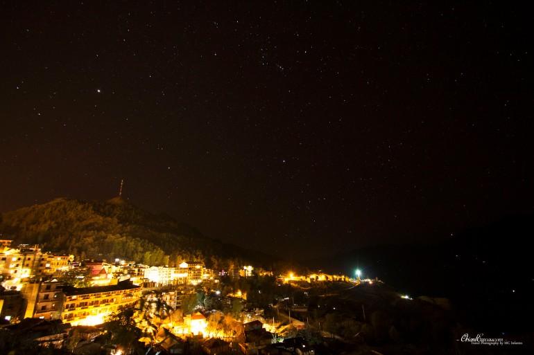 night sky stars sapa vietnam