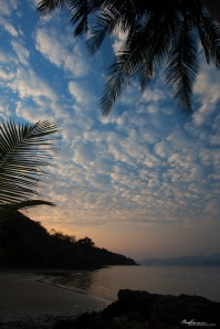 koh wai, beach sunset thailand